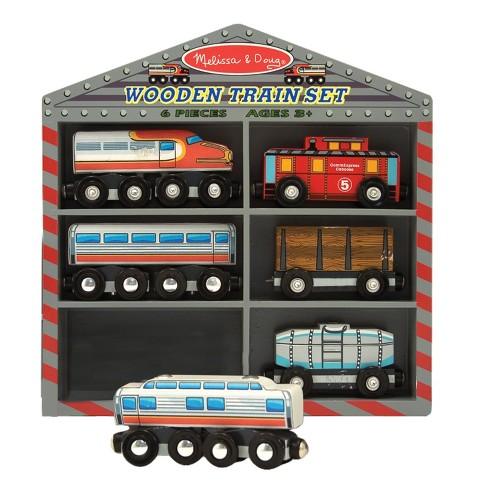 Melissa & Doug® Wooden Train Set - Diesel Trains