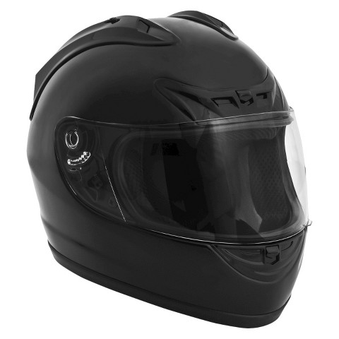 Fuel Full Face Black Motorcycle Helmet - Assorted Sizes