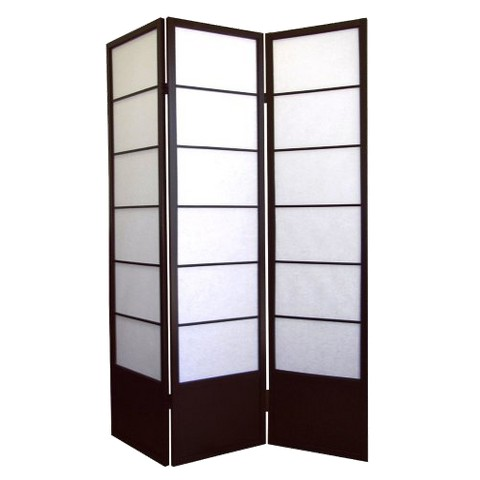 Ore International 3 Panel Shogun Room Divider - Espresso