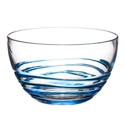 Acrylic Swivel Bowl Set of 4 - Blue