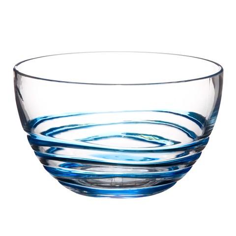 Acrylic Swivel Bowl Set of 4 - Blue