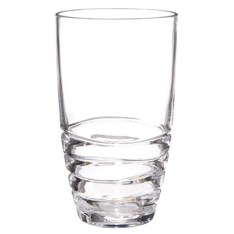 Acrylic Swivel Highball Glasses Set of 4 - Clear