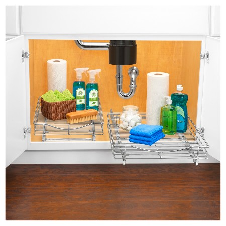 Lynk Professional Roll Out Cabinet Organizer Pull Out Under Cabinet Sliding Shelf 14 Inch