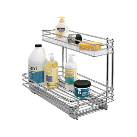 Lynk Professional Kitchen Under-Sink Rollout Double Drawer - 11x18""