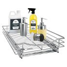"""Lynk 14""""w x 21""""d Professional Roll-Out Drawer Cabinet Organizer - Chrome"""