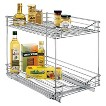 """Lynk Professional Kitchen Cabinet Rollout Double Drawer - 14x21"""""""