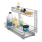 """Lynk 11.5""""w x 21""""d Professional Roll-Out Undersink Drawer Cabinet Organizer - Chrome"""