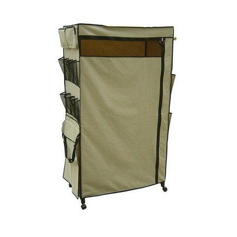 Neu Home Portable Wardrobe Center - Wheat