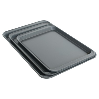 3 Piece Cookie Sheet Set - Silver - Room Essentials™