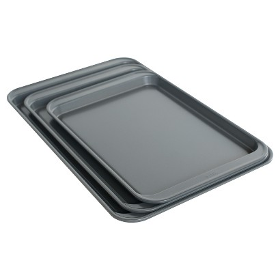 CHEFMATE® 3-PC. COOKIE SHEET SET - SILVER
