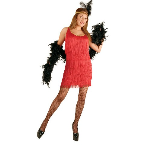 Women's Fashion  Red Flapper Costume - Plus Sizes