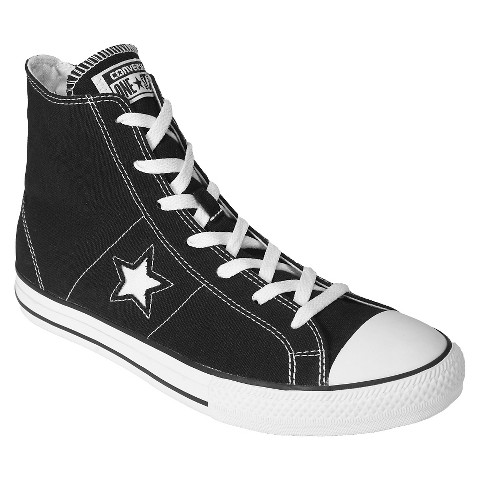 Men's Converse® One Star® Hi-Top Lace up shoe - Black