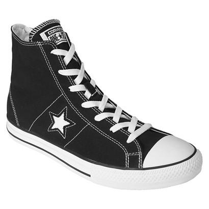 Men's Converse® One Star® Hi-Top Lace up shoe - Black