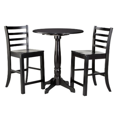 3 Piece Bistro Set - Black