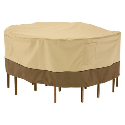 Patio Table and Chair Cover - Beige/Brown