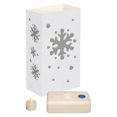 Battery Operated LED Luminaria Kit- Snowflake (12 Count)