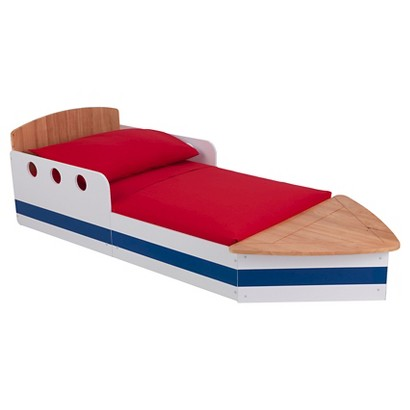 KidKraft Boat Bed - Natural/ Striped