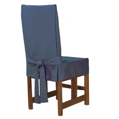 Sure Fit Cotton Duck Short Dining Room Chair Slipcover - Blue Stone
