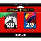Lexmark #28/#29 Black and Color Ink Cartridge Combo