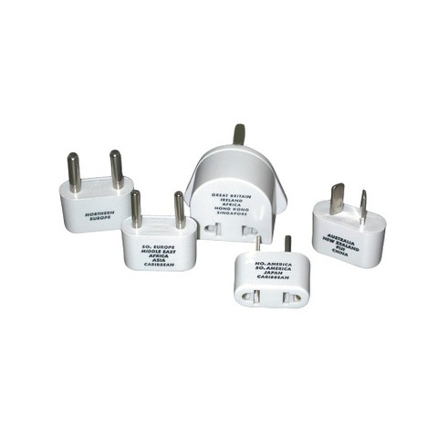 Conair Travel LT5 Plug Adapter Set - White