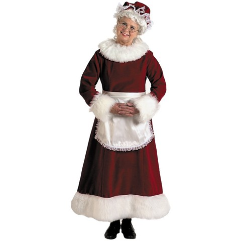 Women's Mrs. Claus Dress Costume Large