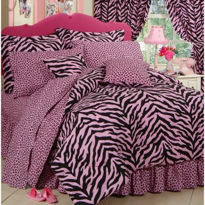 Zebra Print Bed in a Bag - Pink/Black