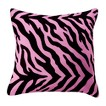 Zebra Square Pillow - Pink/ Black