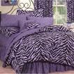 Zebra Print Bed in a Bag with Sheet Set - Lavender/Black