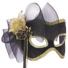 Golden Flower Mask Black/Gold