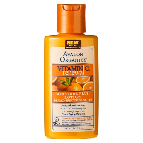 Avalon Vitamin C Moisture Plus Lotion SPF 15- 4oz