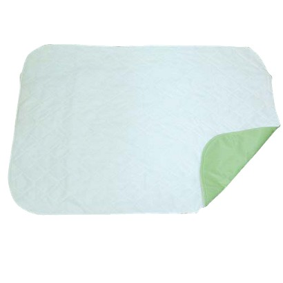 Mabis 3 Ply Quilted Reusable Underpad - Green and White