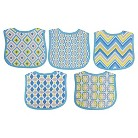 Neat Solutions Knit Terry Graphic Print Bibs - Boy (5 Pack)