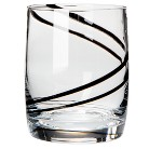 Luigi Bormioli Black Swirl Double Old-Fashioned Glasses Set of 4