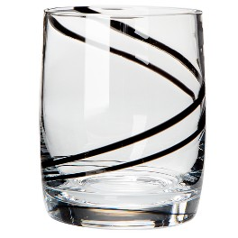 Luigi Bormioli Black Swirl Glassware Collection