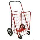 ATHome® Heavy-Duty Wheeled Shopping Utility Cart - Red