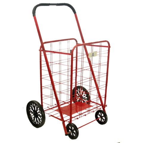 ATHome® Heavy-Duty Wheeled Cart - Red