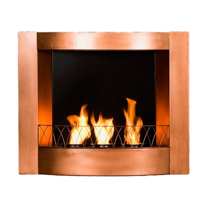 Indoor or Outdoor Wall Mounted Gel Fireplace - Copper