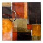 Harmony with Squares Canvas Wall Art - 24x24
