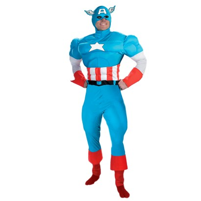 Teen Boy's Captain America Deluxe Muscle Costume