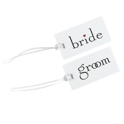 Bride/Groom Luggage Tag Set