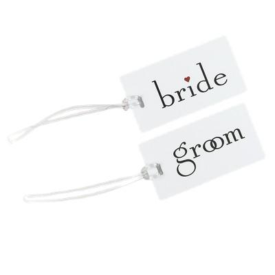 Bride/Groom Luggage Tag Set