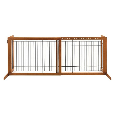 Richell Freestanding Wood Pet Gate - High/Large