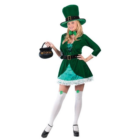 Women's St. Patrick's Day Sassy Leprechaun Costume - Large