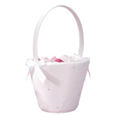 Starlight Flower Girl Basket - White