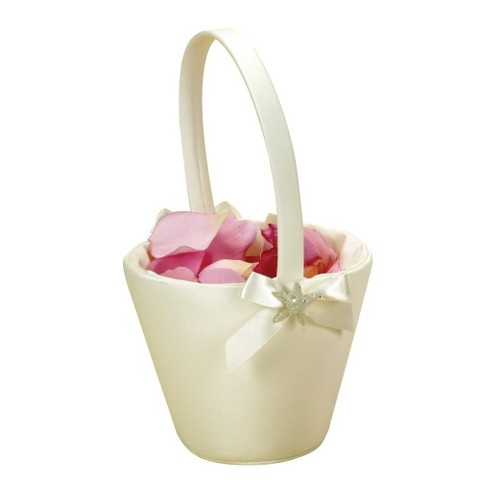 Beach Flower Girl Basket - Ivory