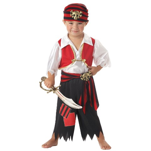 Toddler Boy Ahoy Matey Pirate Costume 2T-4T