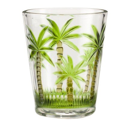 Palm Tree Acrylic Double Old-Fashioned Glasses Set of 4