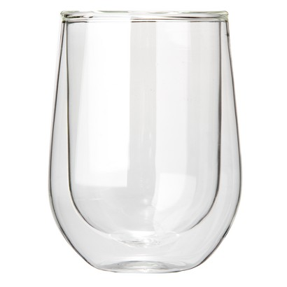 The Wine Enthusiast Steady Double-Walled Cabernet Glasses Set of 2