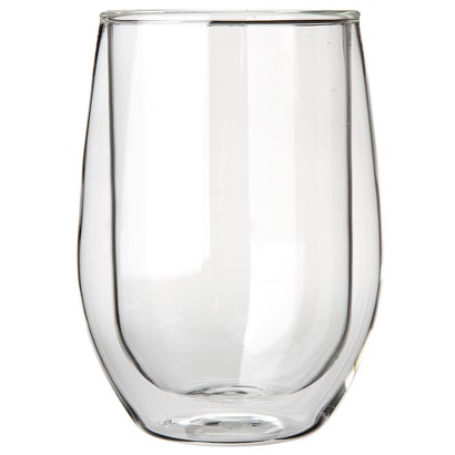 The Wine Enthusiast Steady Double-Walled Chardonnay Glasses Set of 2