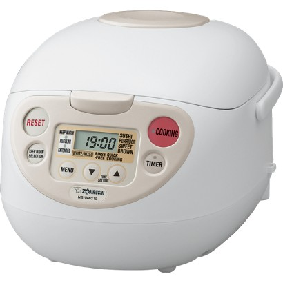Zojirushi NS-WAC10WB Fuzzy Logic 5.5-Cup Rice Cooker and Warmer